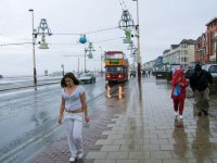Rainy summer day in Blackpool.