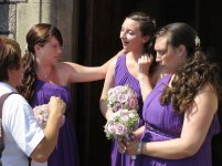 Bridesmaids at Exmouth, Devon.